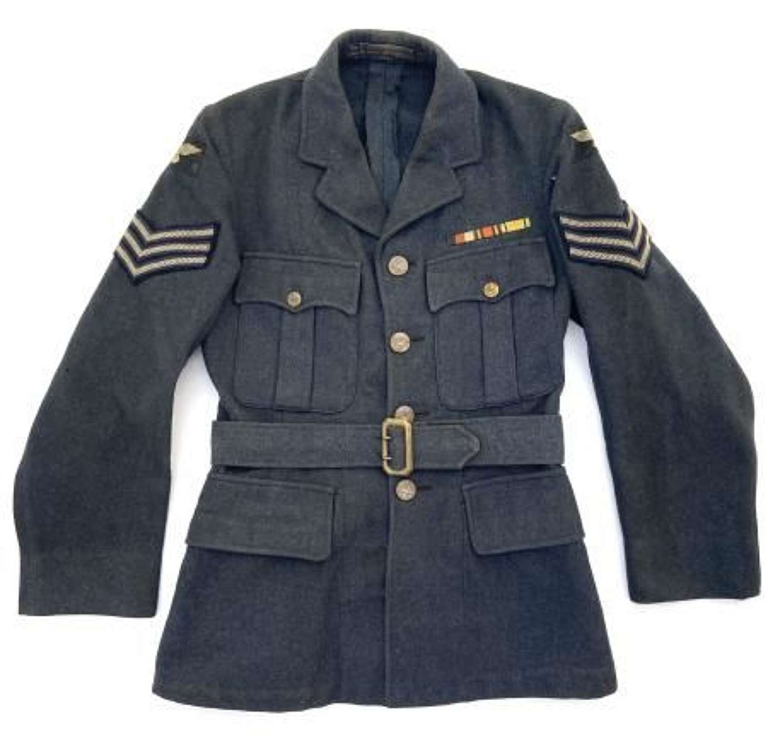 Original 1941 Dated RAF Ordinary Airman's Tunic with Sergeants Insignia.