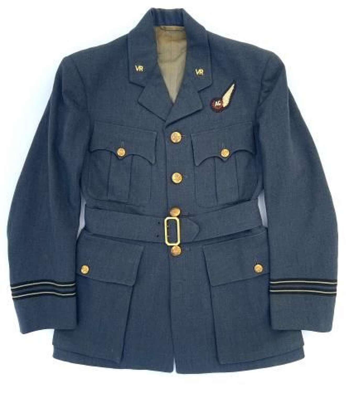 Original WW2 RAF Officers Service Dress Jacket with Air Gunner Brevet