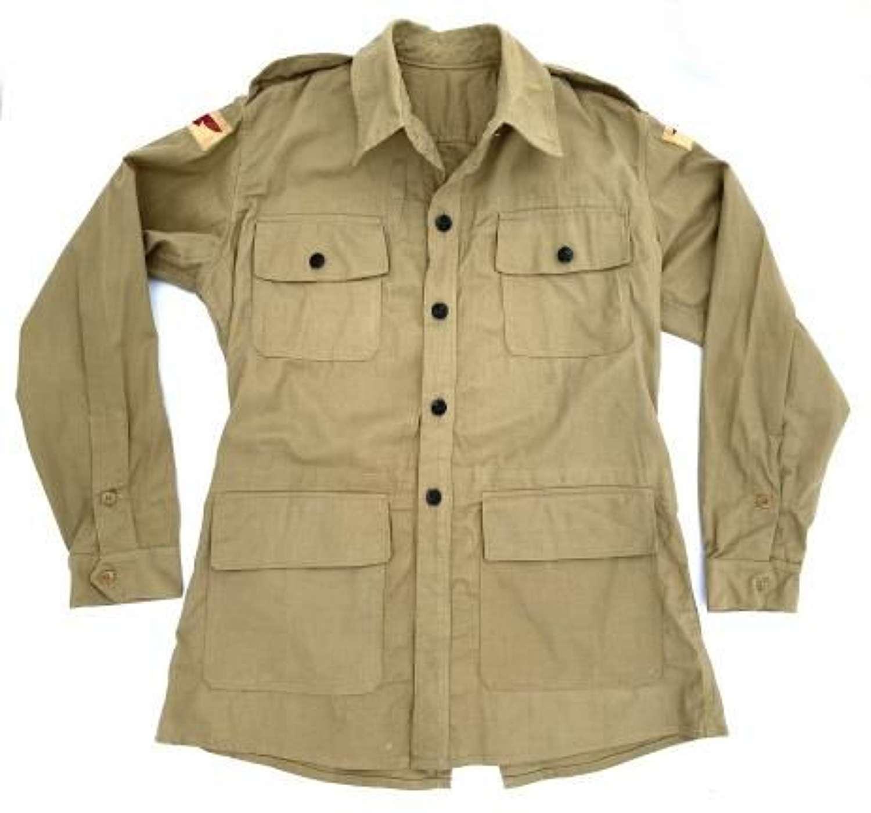 Original 1943 Dated RAF Bush Shirt - Large Size