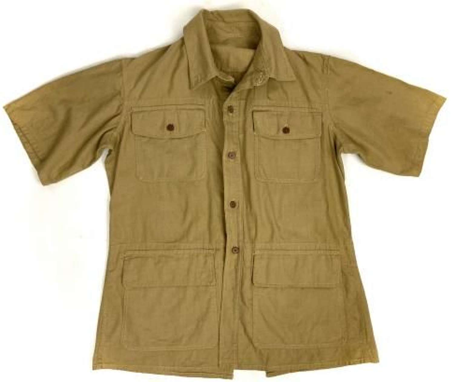 Original WW2 British Khaki Drill Airtex Bush Jacket
