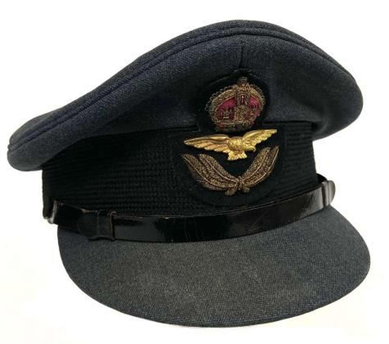 Original WW2 RAF Officers Peaked Cap by 'Bates'