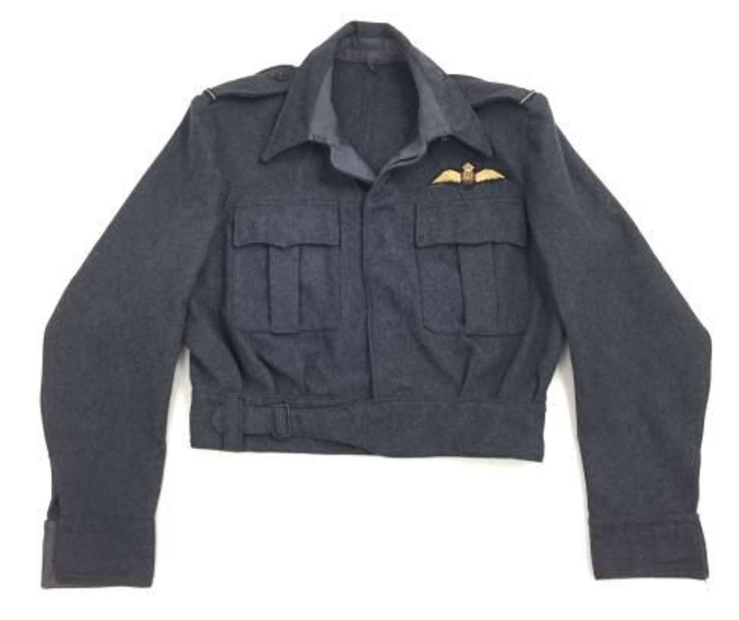 Original 1944 Dated RAF War Service Dress Blouse with Pilot Insignia - Size 15