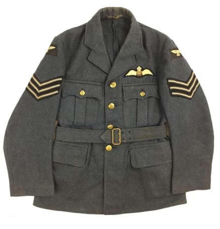 Original 1945 Dated RAF Ordinary Airman's Tunic With Sergeant Pilot Insignia