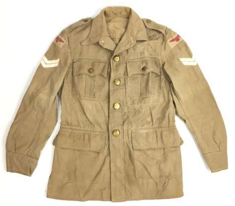 Original 1945 Dated RAF Bush Jacket with Original Wartime Insignia