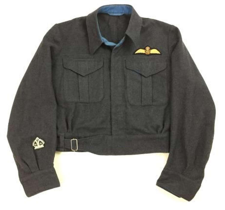 Original 1943 Dated RCAF Battledress Blouse with Pilot Insignia