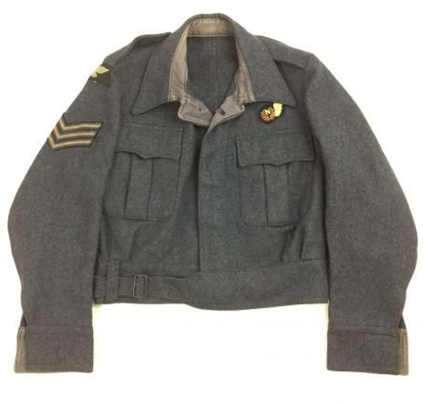1945 Dated RAF War Service Dress Blouse with Sgt Navigator Insgnia