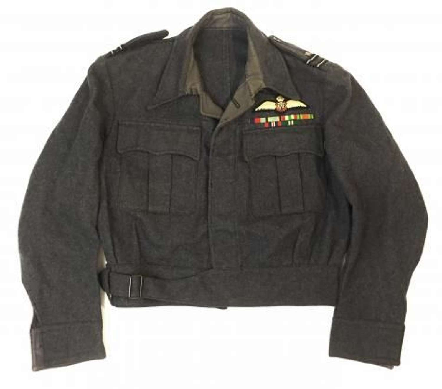 Original RAF Officers War Service Dress Blouse With Pilot Wings Dated 1946