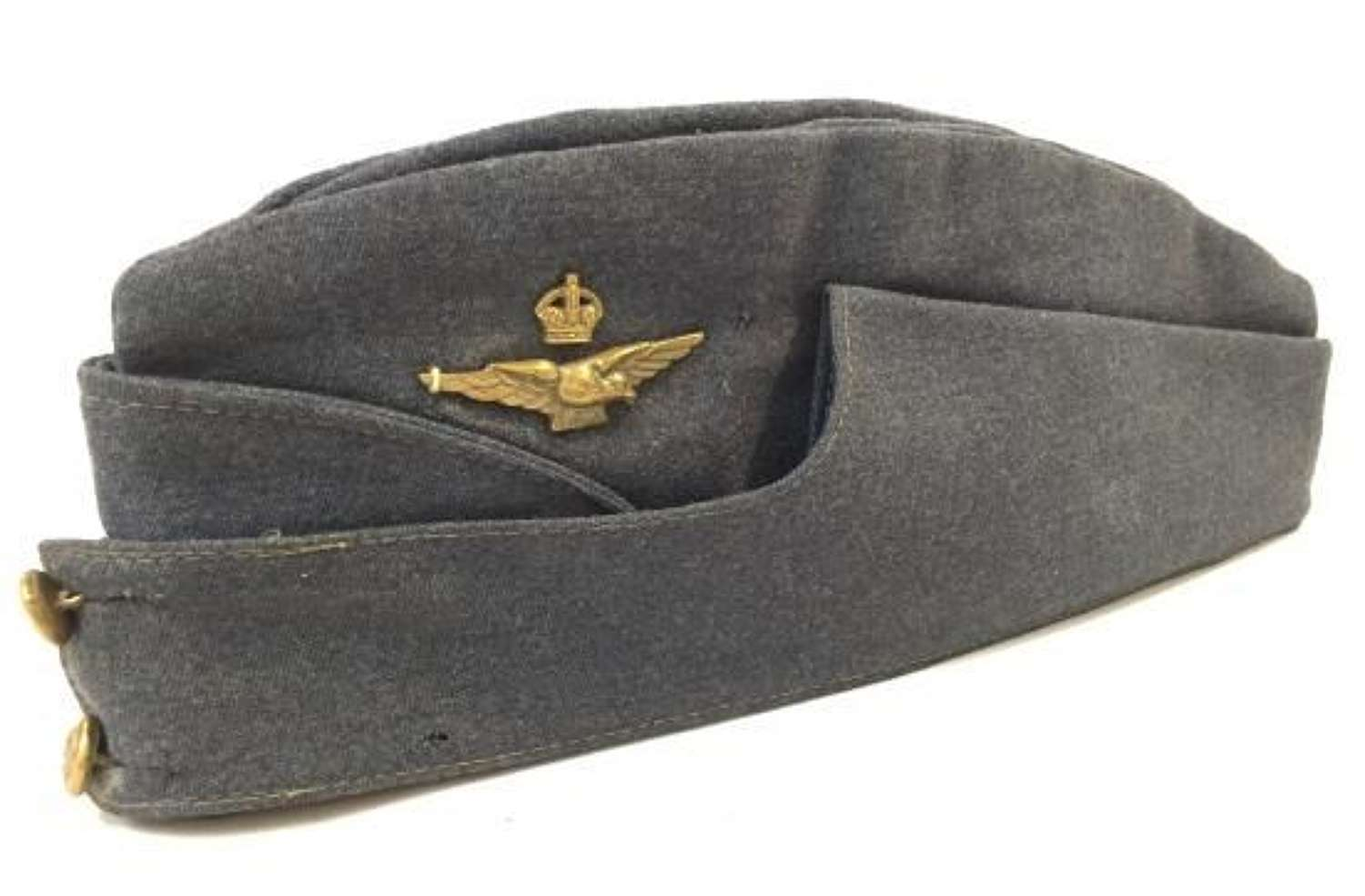 Orignal WW2 RAF Officers Side Cap - Extra Large Size!