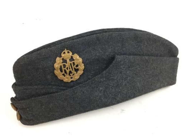 Original 1944 Dated RAF OA Side Cap Size 7 1/8 - Cpl Bamford 683 SQD
