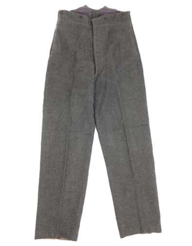 Original WW2 Pattern RAF OA Trousers Dated 1964 - Size 27