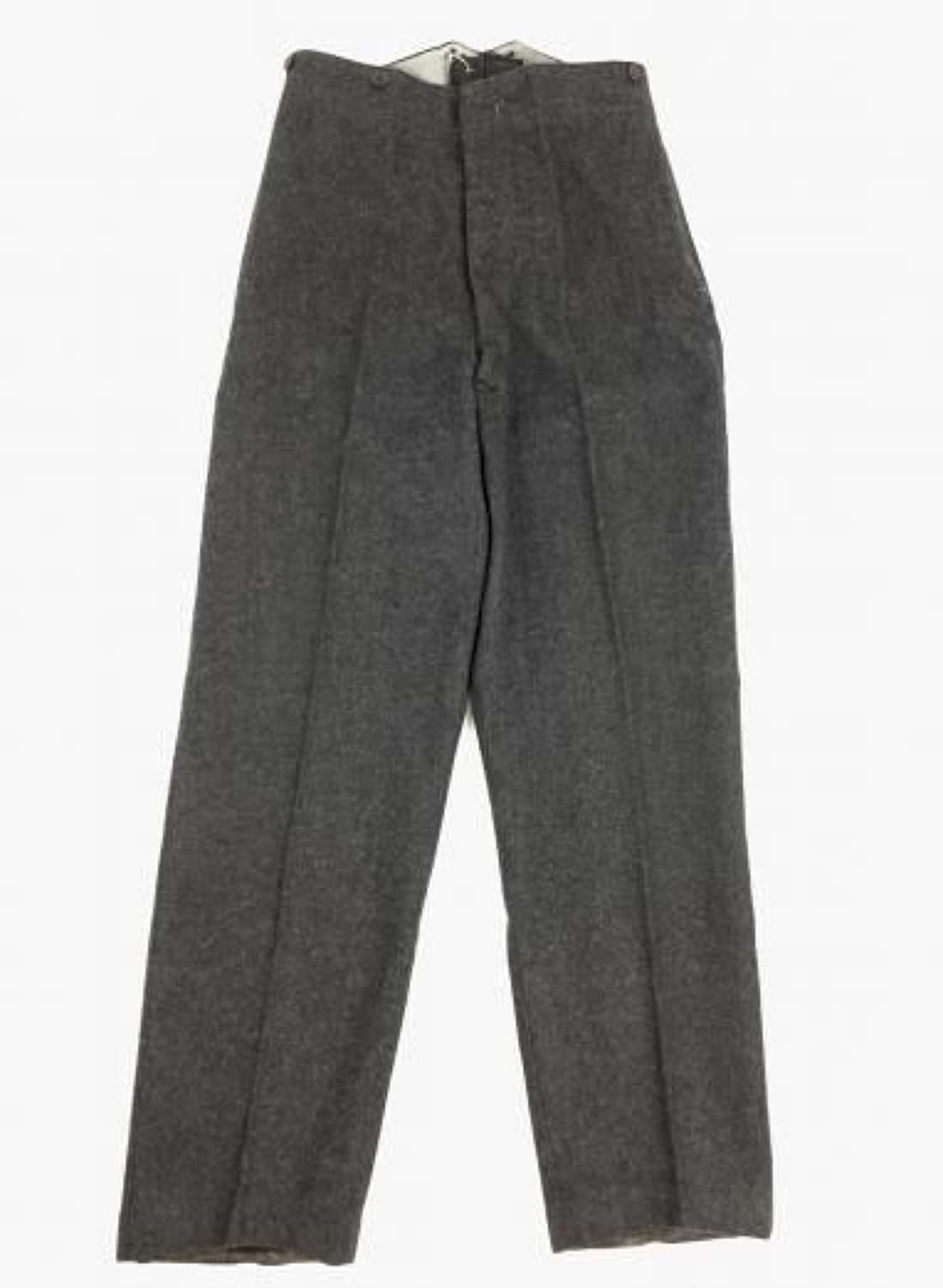 Original WW2 Pattern RAF OA Trousers Dated 1950 - Size 27