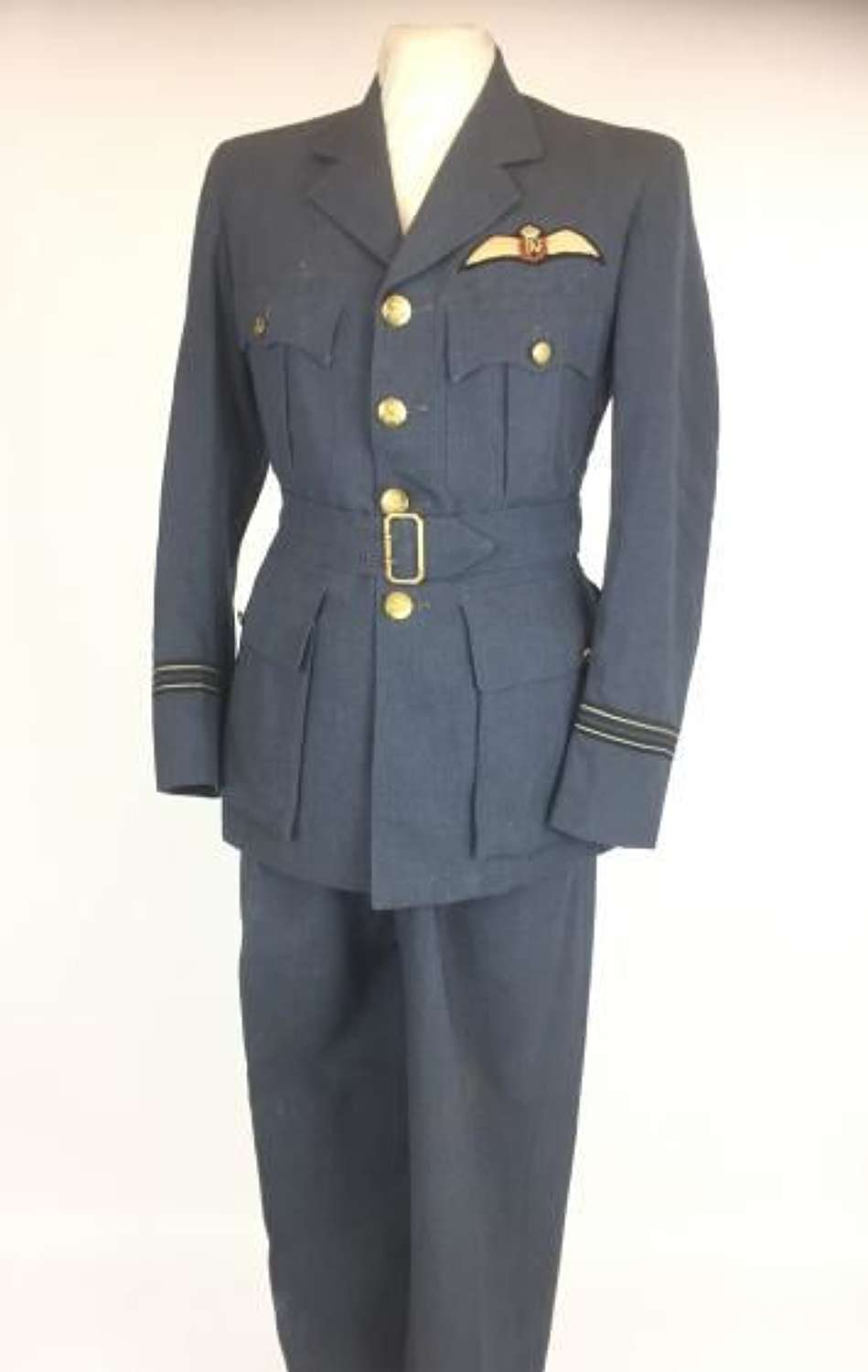 Original RAF Officers Service Dress Attributed to a Typhoon Pilot of 263 Squadron