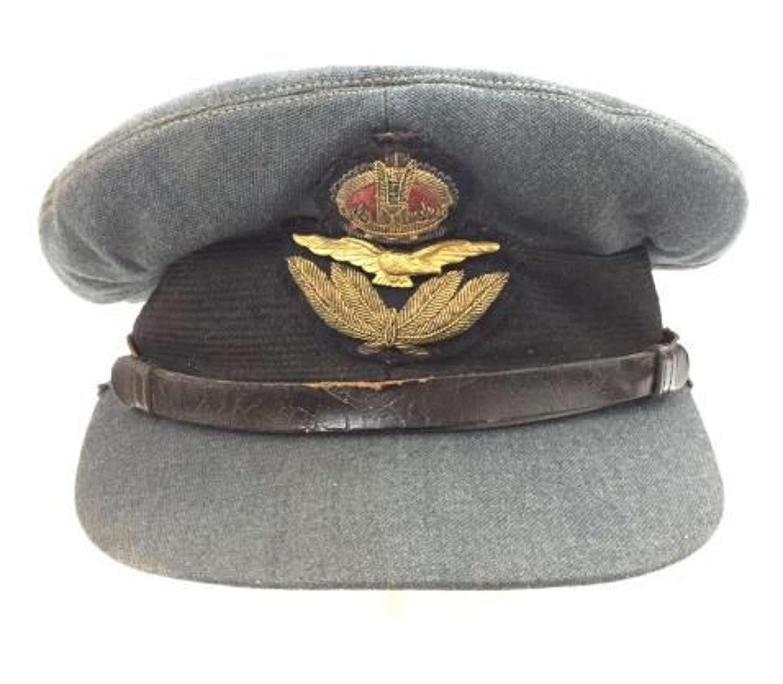 Original Early WW2 RAF Officers Peaked Cap - Battle of Britain era