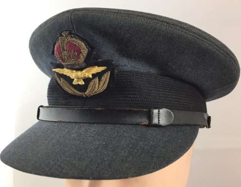 Original WW2 RAF Officers Service Dress Cap by 'Burberrys'