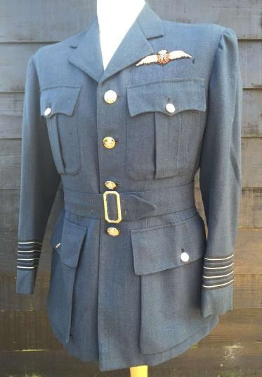1944 Dated RAF Officers Tunic Named To Wing Commander Lloyd Joel DFC