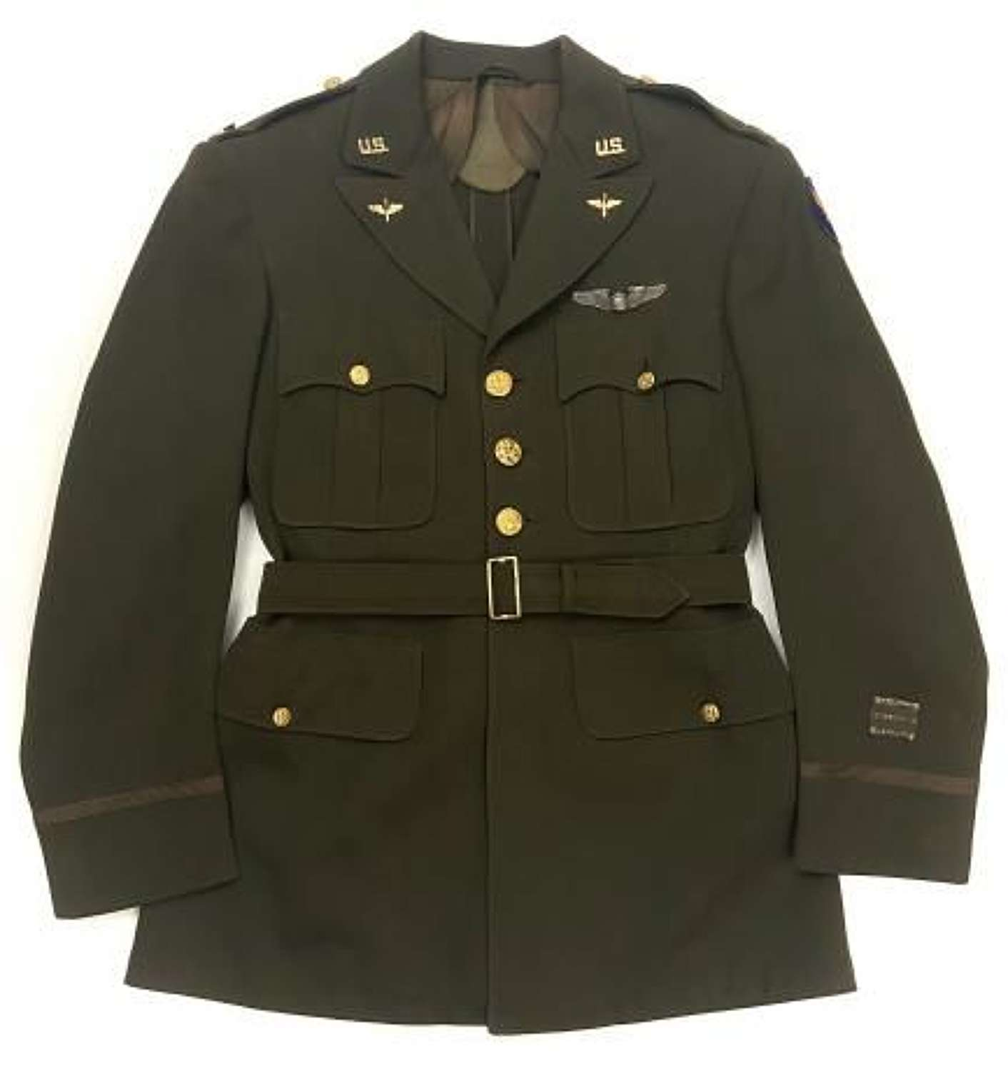 Original WW2 USAAF Captains Tunic with Pilots Wing