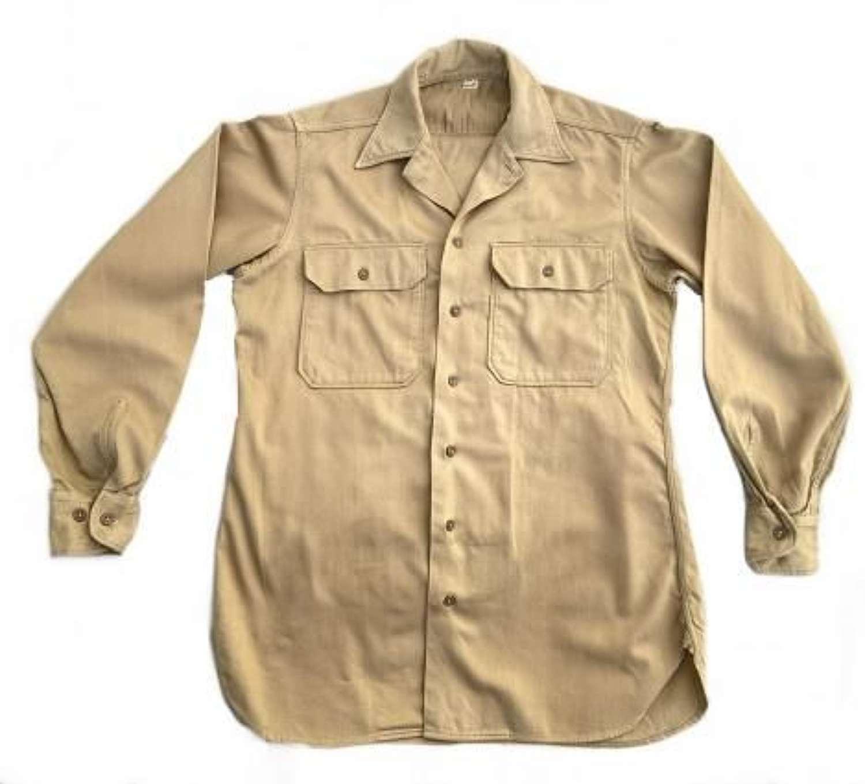 Original WW2 US Army Tan EM Summer Shirt