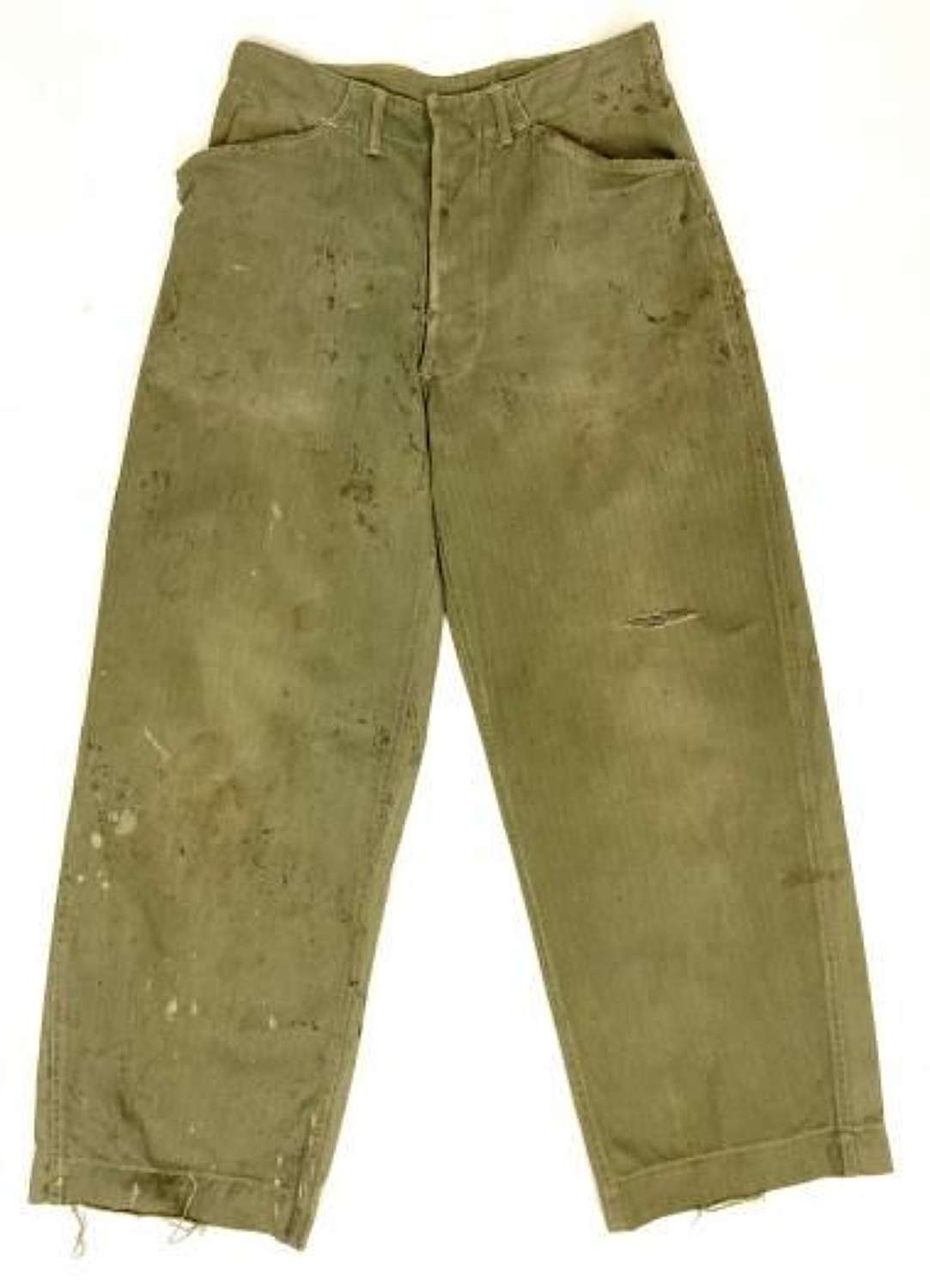 Original WW2 USMC P1941 HBT Trousers