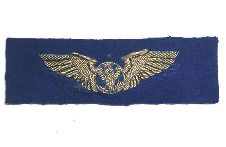 Original USAAF Blue Backed Bullion Aircrew Wing