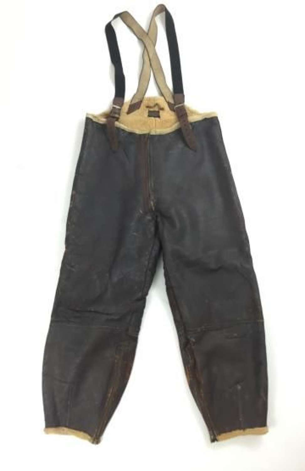 Original USAAF B-1 Mechanics Sheepskin Trousers