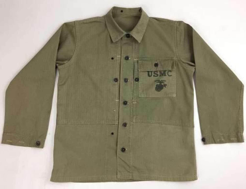 Original WW2 USMC P44 HBT Jacket