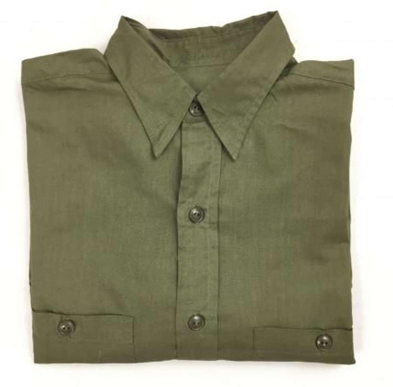 Original WW2 US Navy OD Green Poplin Field Shirt