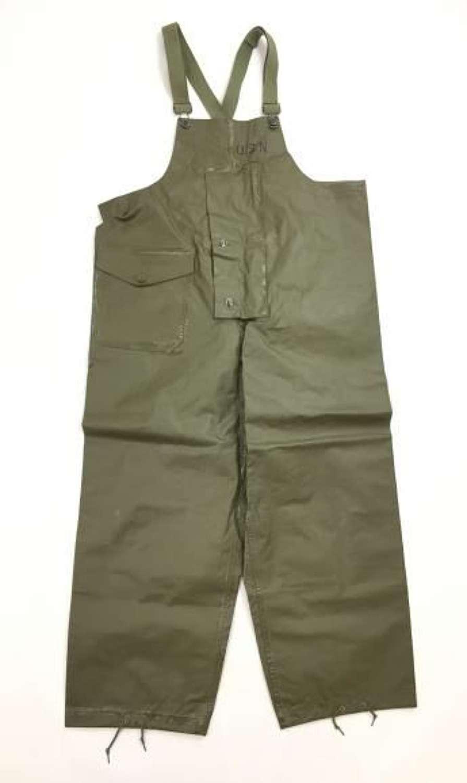 Original WW2 US Navy Waterproof Bib & Brace Trousers