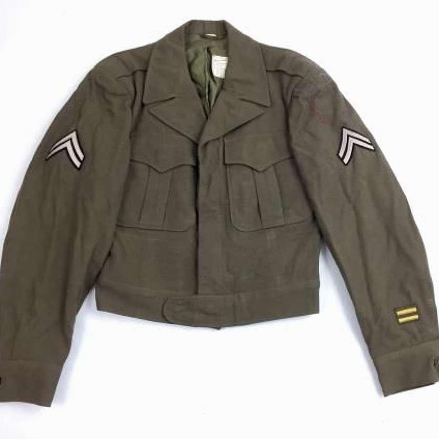Original 1945 Dated US 'Jacket, Field, Wool, O.D - Size 34
