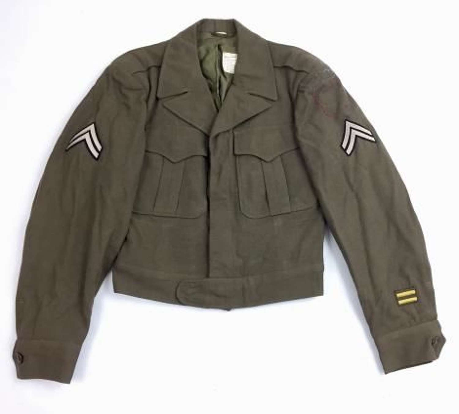 Original 1945 Dated US 'Jacket, Field, Wool, O.D - Size 34