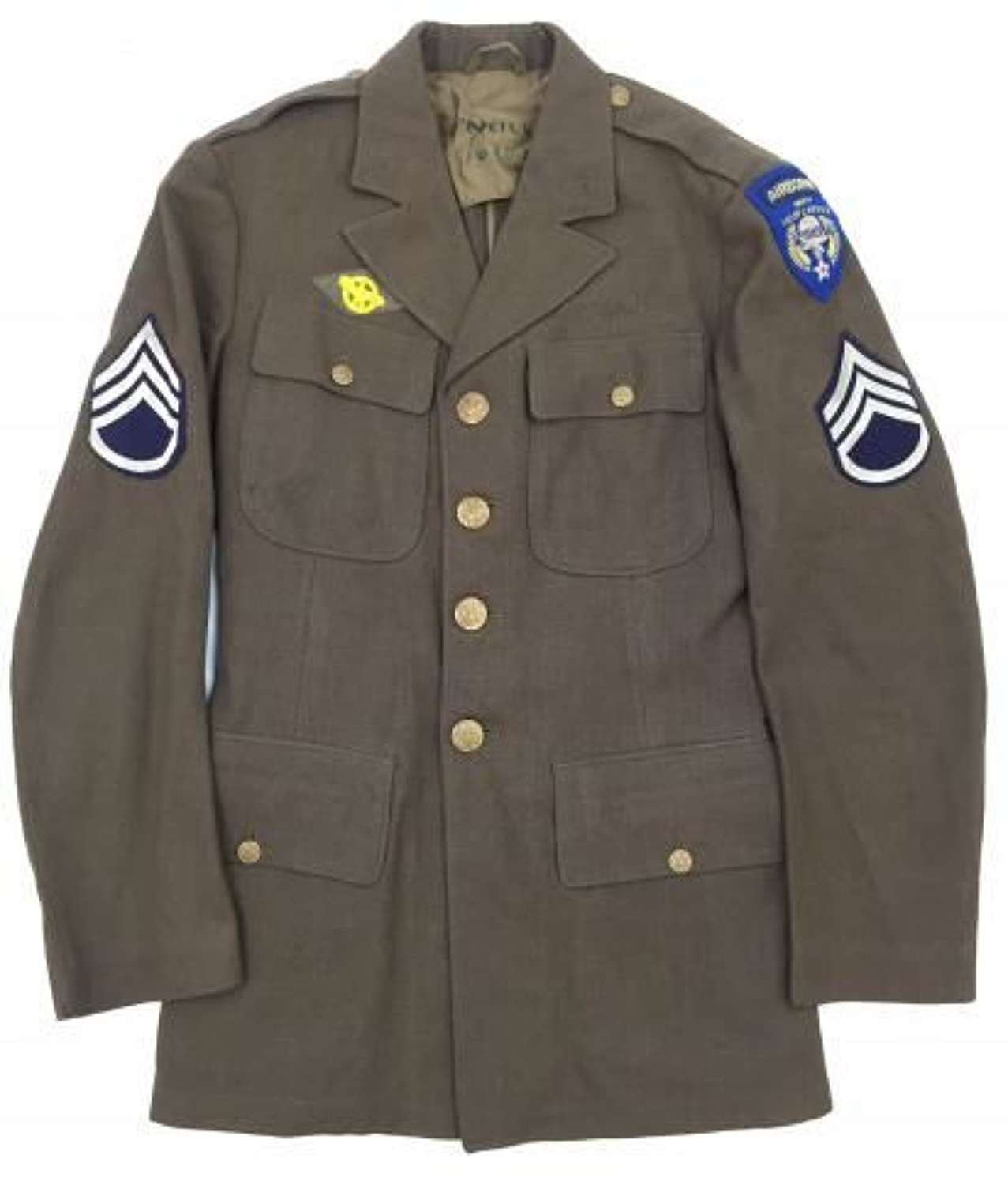 Original 1940 Dated US Enlisted Men's Tunic Troop Carrier - Size 36L