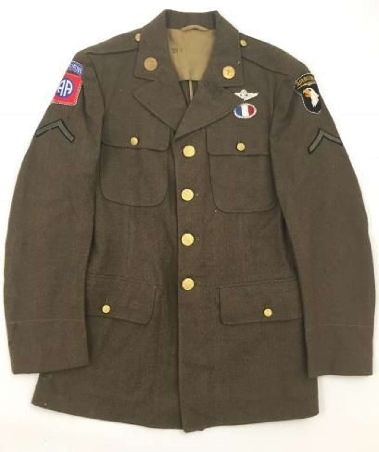 Original 1942 Dated US Enlisted Men's Tunic with Airborne Tunic - Size 37 R