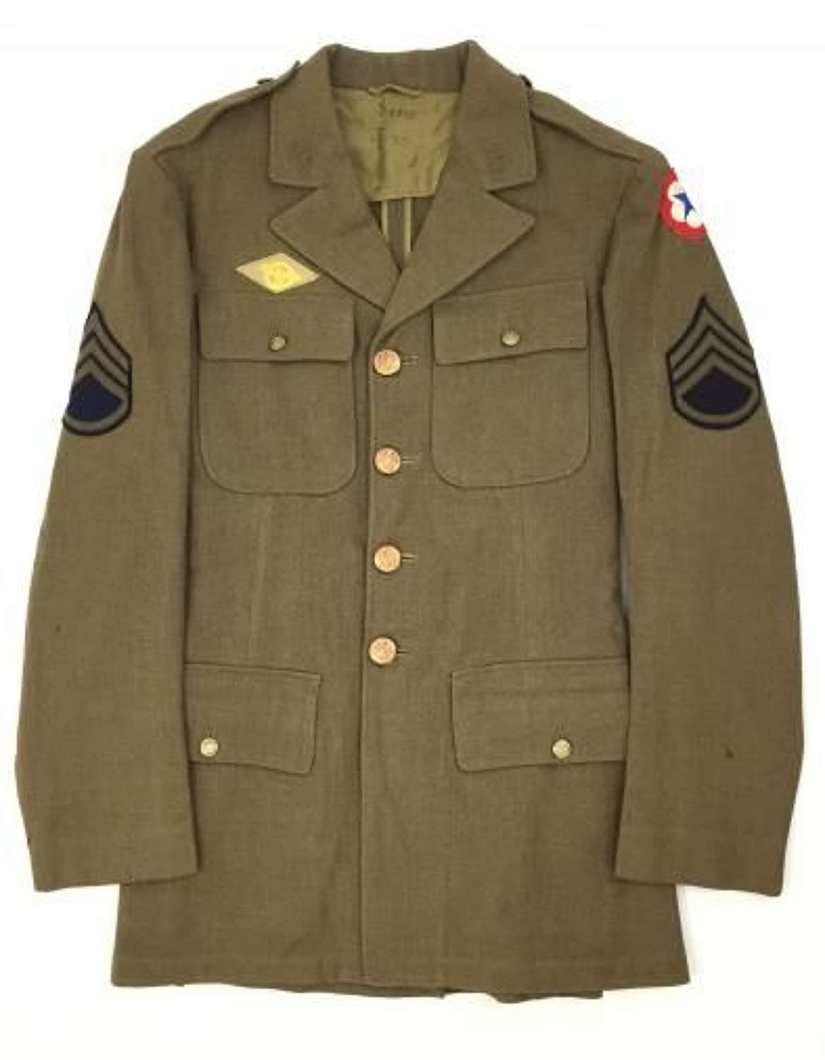 Original 1940 Dated US Enlisted Men's Tunic - Size 36L