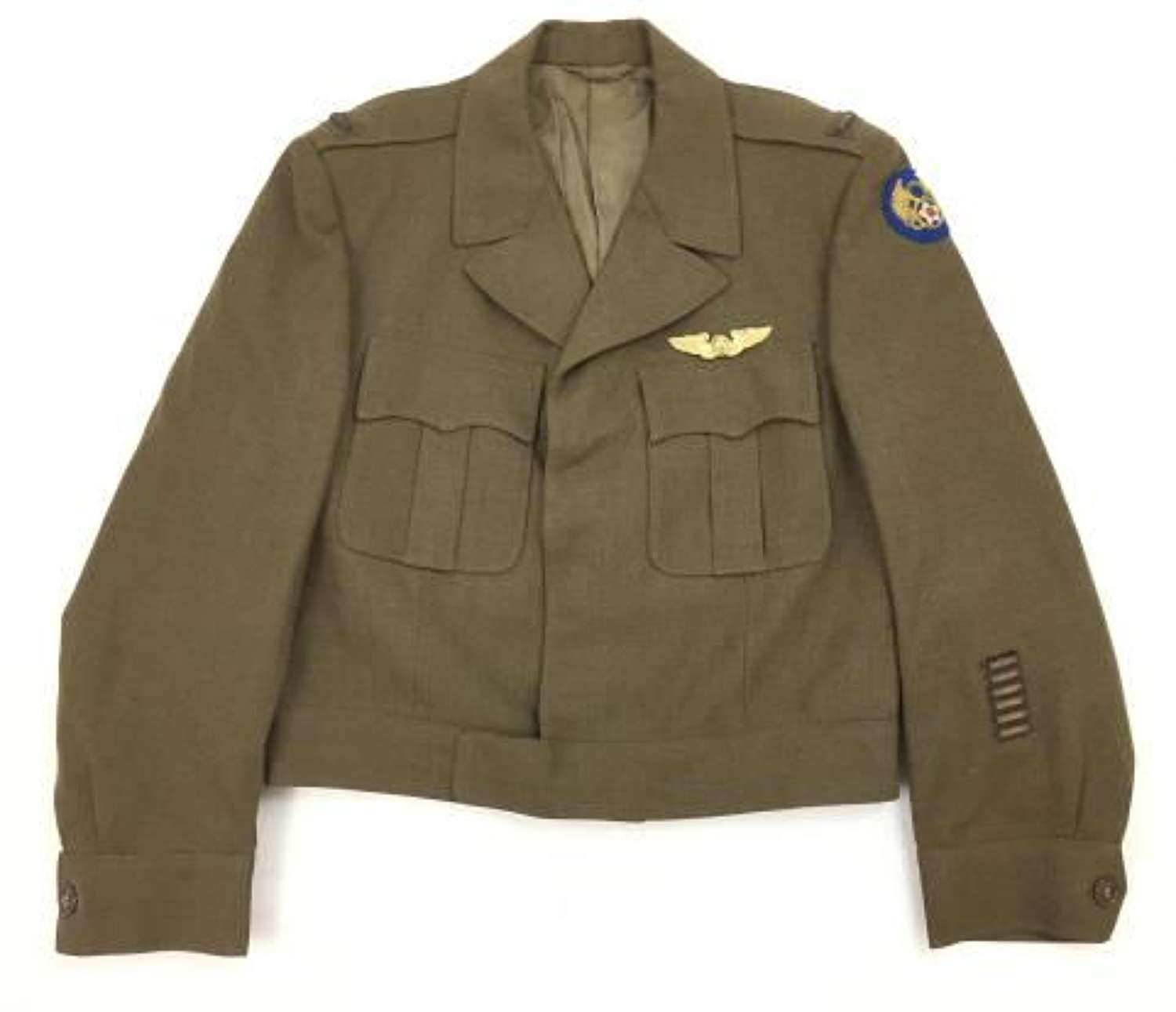 Original US 8th Army Air Force Officers Ike Jacket with Bullion Insignia
