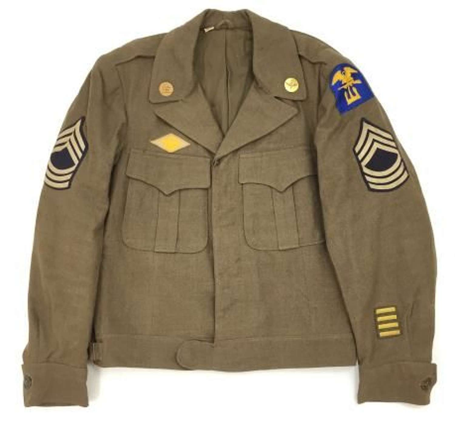 Original 1944 Dated US Army Ike Jacket - Size 38 R