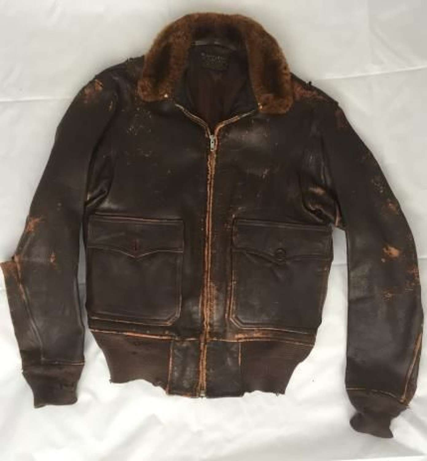 Original US Navy G-1 Flying Jacket - First Contract Made By L. W. Fost
