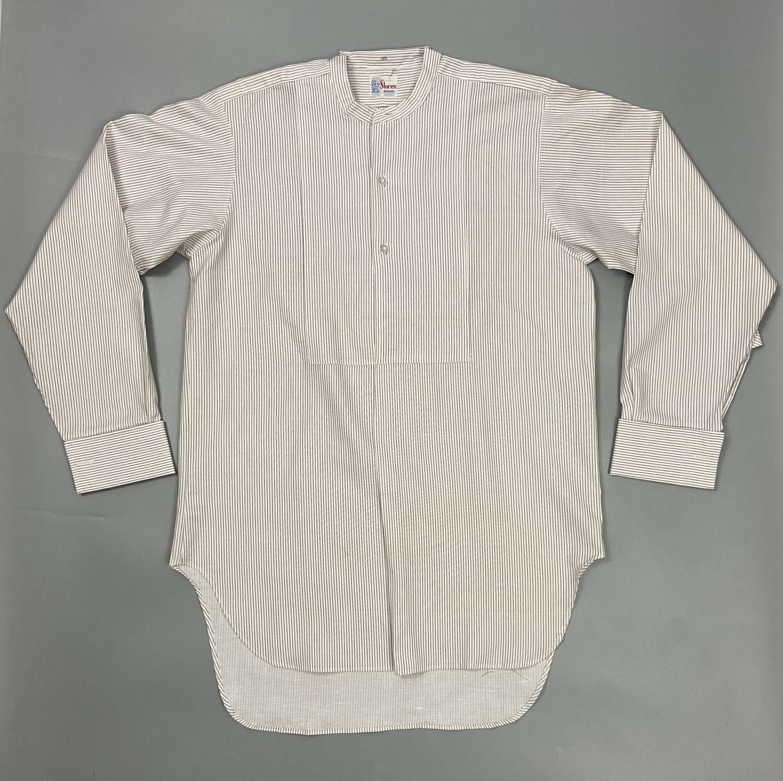 Original 1960s Men's shirt by 'Storex' - Red/Blue Needle Stripe