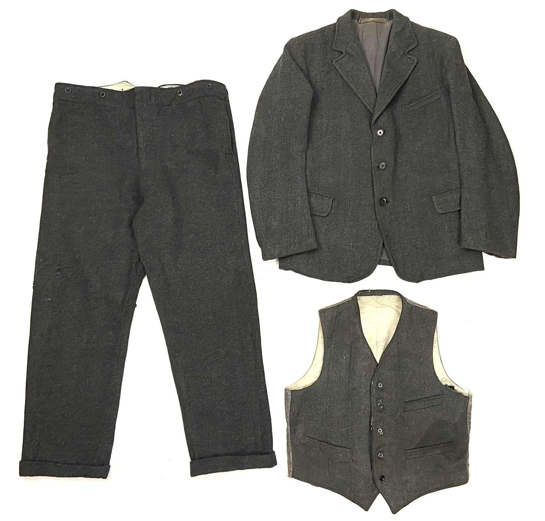 Rare Original Men's Derby Tweed Workwear Suit by 'Tuff As Steel'