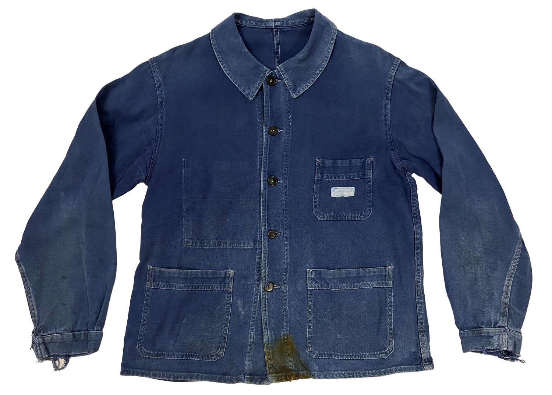 Original 1950s French Blue Chore Jacket 'Alsthom Savo Sienne'