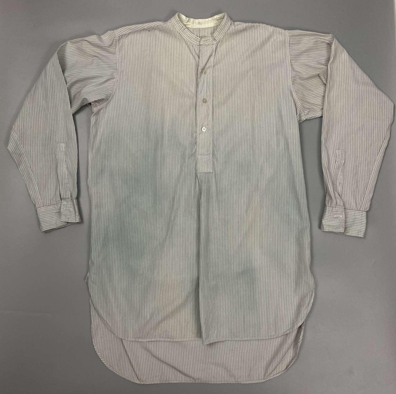 Original 1950s Men's Pin Stripe Half Placket Shirt