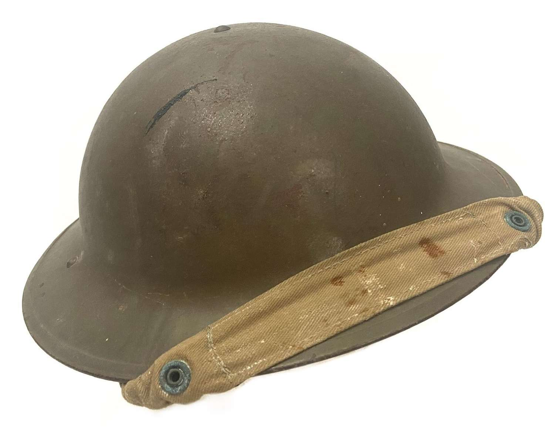 Original 1940 Dated British Army MKII No. 2B Steel Helmet