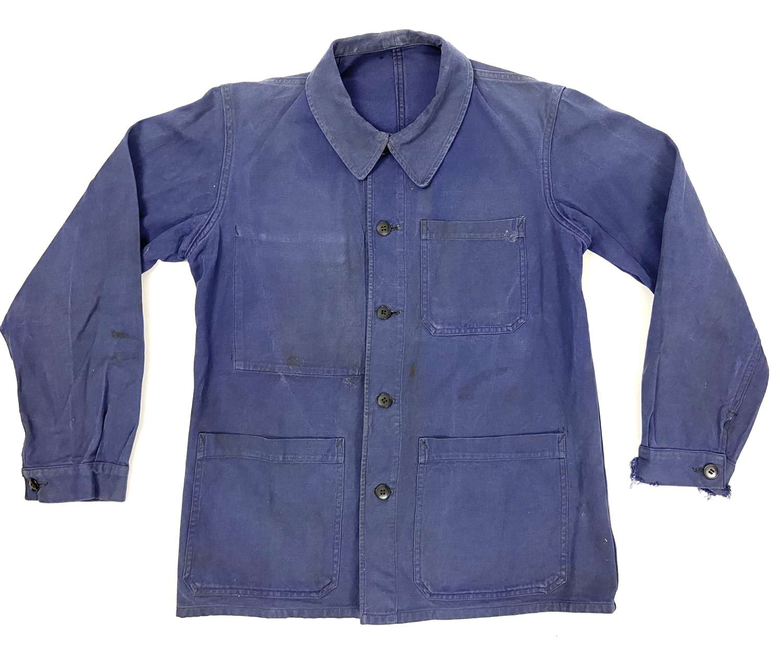 Original 1950s French Blue Chore Jacket