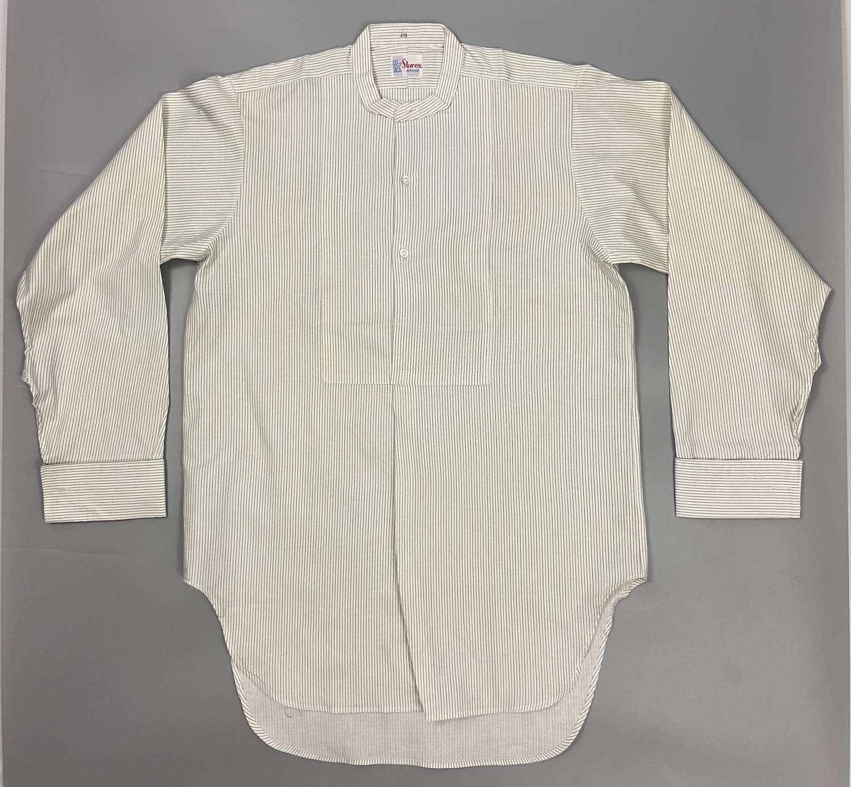 Original 1960s Men's Shirt by 'Storex' - Green/Blue Needle Strip