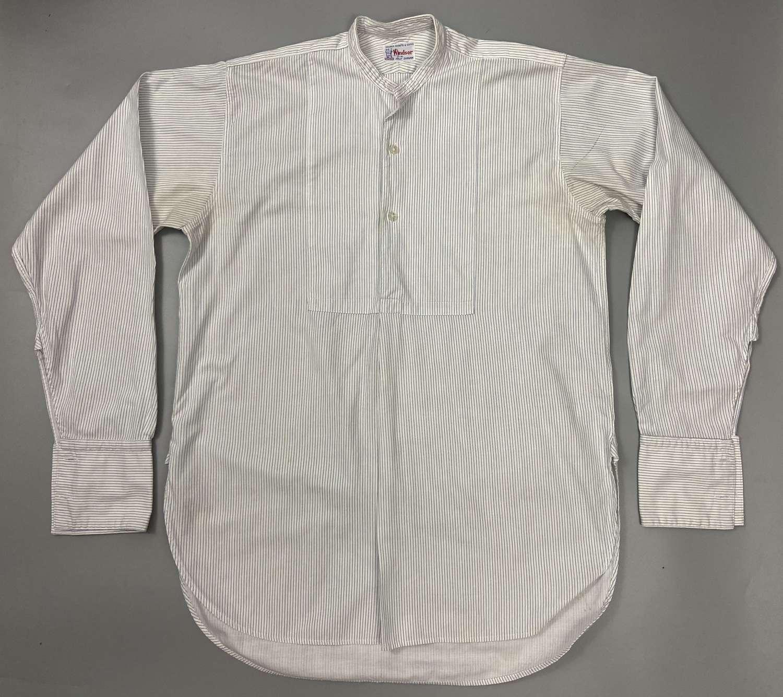 Original 1950s British Made Men's Collarless Shirt by 'Storex'