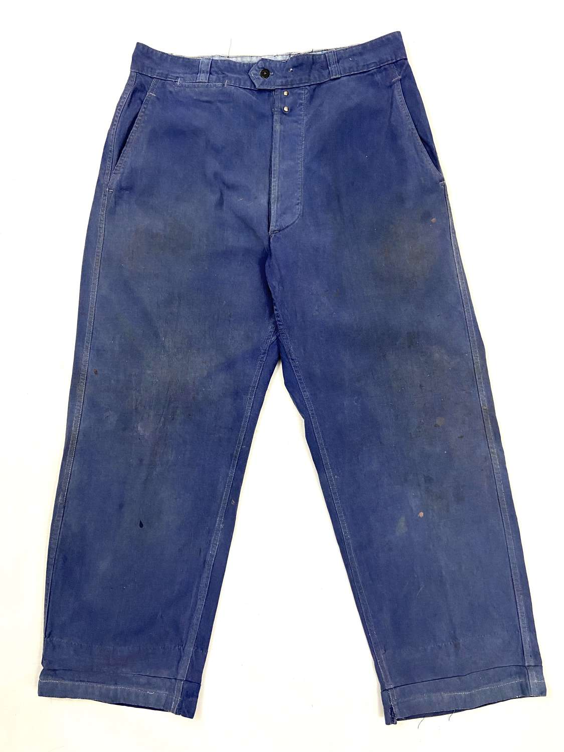 Original 1950s Blue French Workwear Trousers by 'Extra Savo'