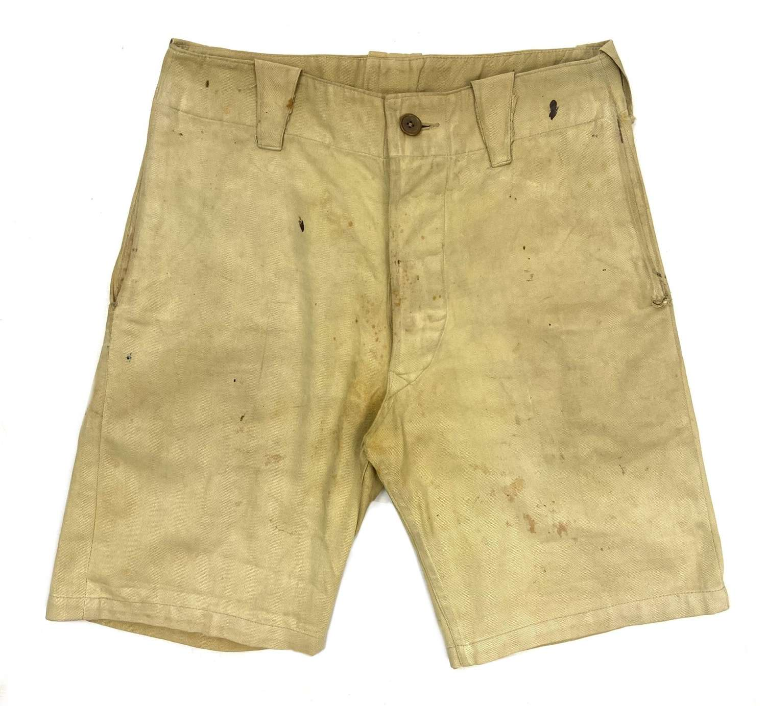 Original 1940s British Workwear Khaki Shorts