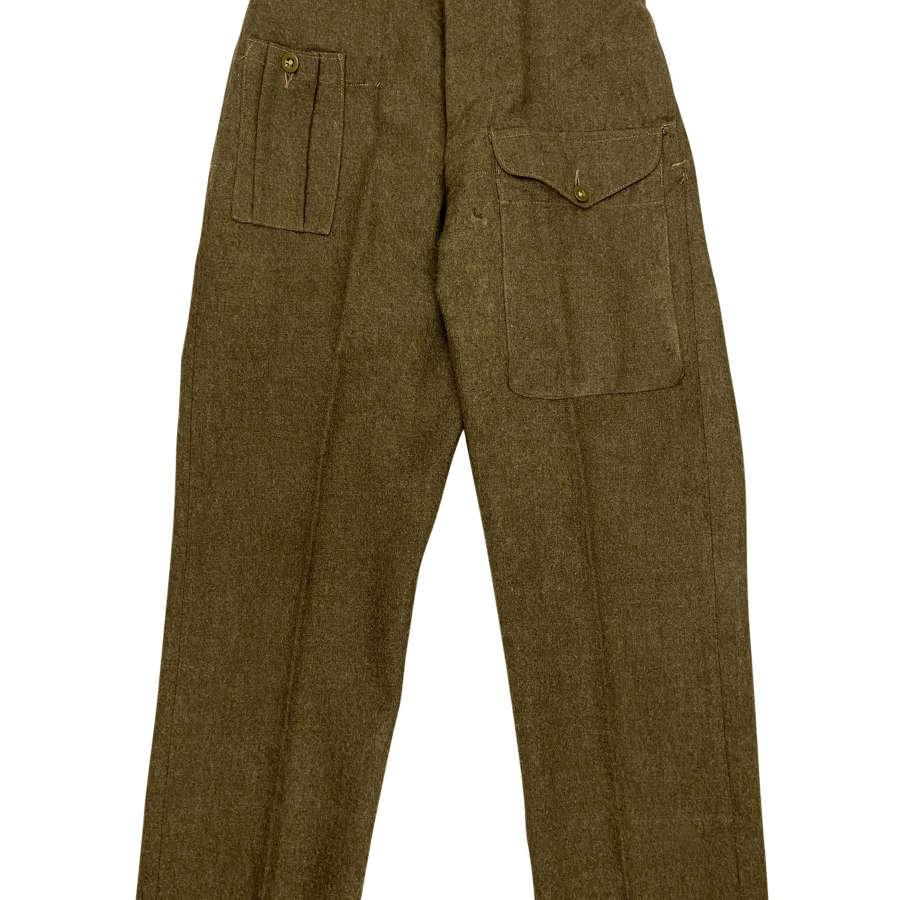 Original 1947 Dated 1946 Pattern British Army Battledress Trousers