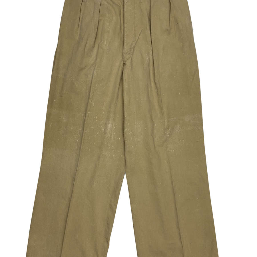 Original WW2 British Army Khaki Drill Trousers