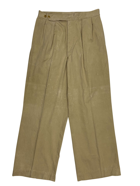 Original WW2 British Army Khaki Drill Trousers