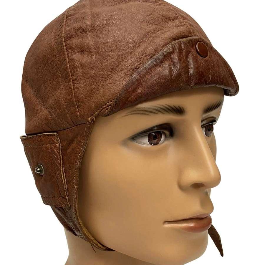 Original Inter-War British made Leather Flying / Driving Helmet