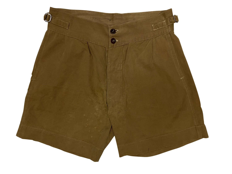 Original 1943 Dated RAAF Khaki Drill Shorts - Size 1 (2)